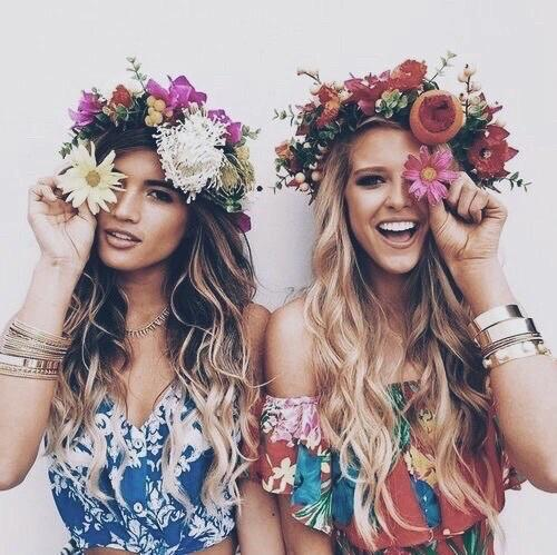 Hot blonde and brunette