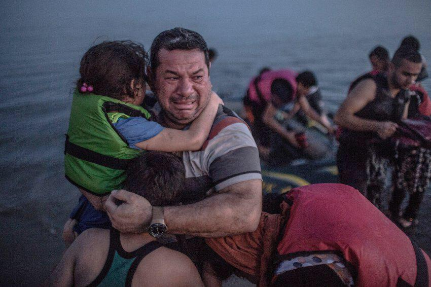 All the words & TV reporting of the refugee crisis in a single photo. Humbled by @DanielEtterFoto http://t.co/VCLmsWjsoR