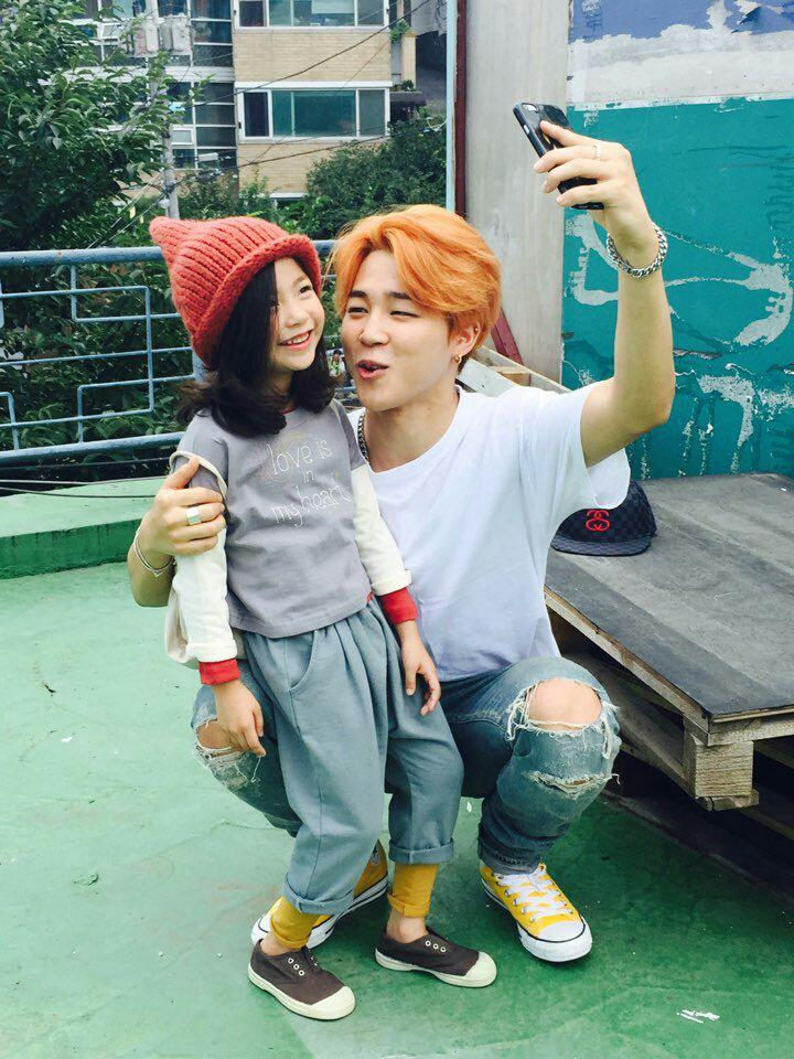 picture  twitter  bts with kids model lee nam gyeong  150819