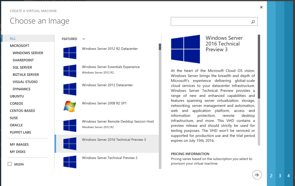 Windows Server 2016 TP3 is alive on @azure http://t.co/8fB7OketoW