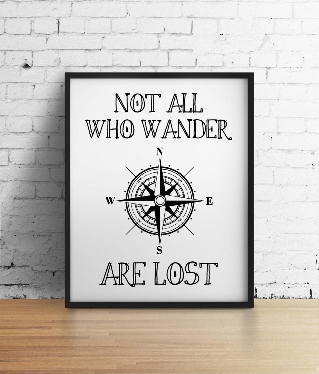 not all who wander are lost - HD 1024×1200