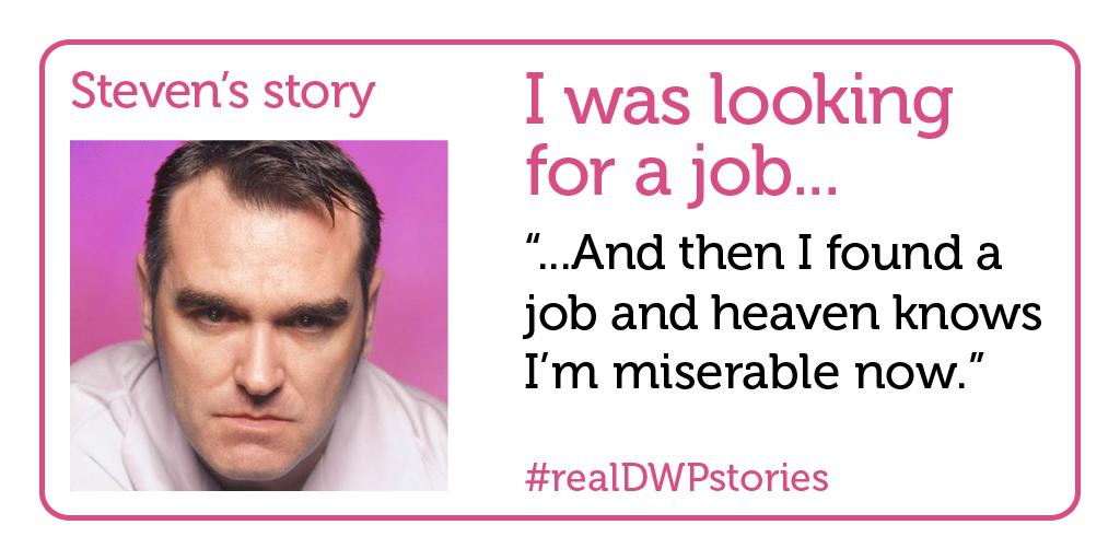 RT @MozOccasions: Shame on the government for using #fakeDWPstories. Perhaps they should try featuring #realDWPstories, like Steven's. http…
