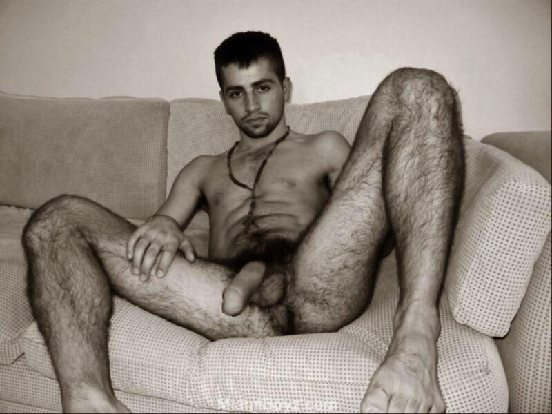 Hairy dark men naked
