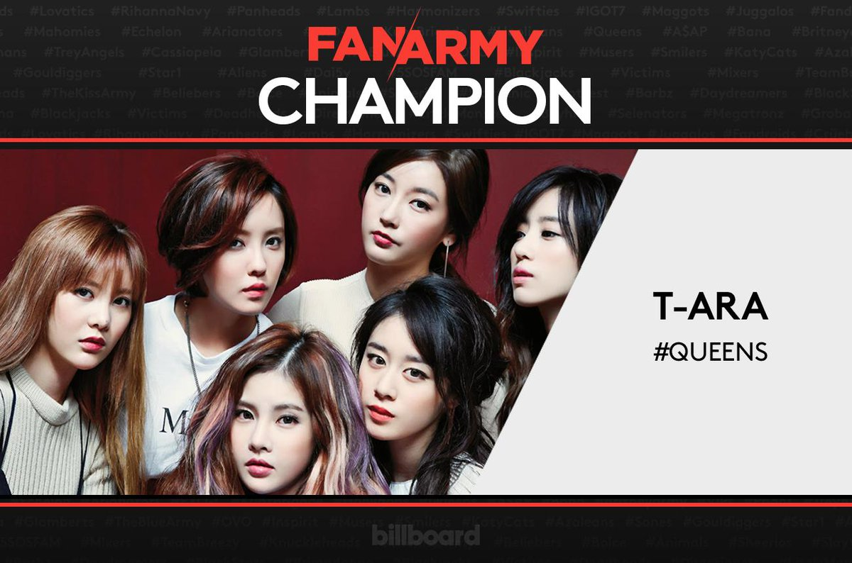 T-ARA's #Queens are the winners of #FanArmyFaceOff 2015! http://t.co/dOfzH9G1ci