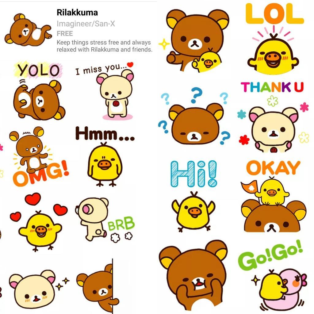 rilakkuma us on twitter facebook messenger now has these cute