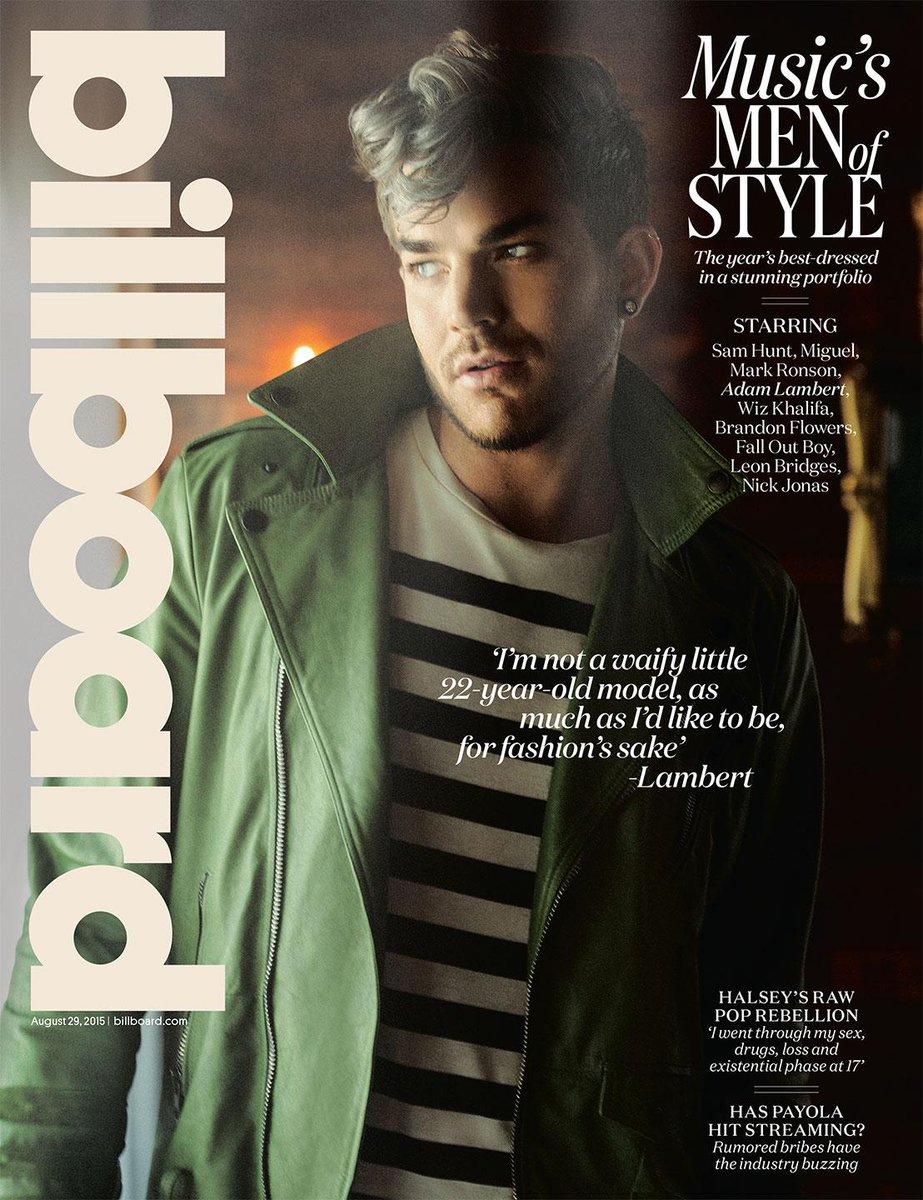 Tomorrow's @Billboard cover (1 of 4) today: man of style @AdamLambert!! http://t.co/PvmkZr7Luk