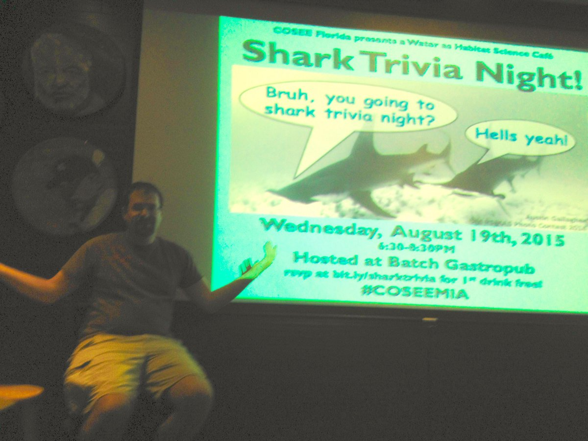 #SharkTrivia starts now at @batchmiami with @whysharksmatter http://t.co/EdAY75Z7po