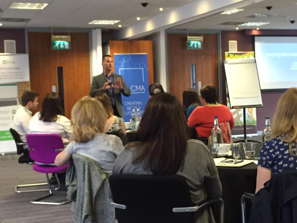 At the #tcma2015 watching superb @TheSalesLion workshop in Edinburgh Well done to @chrismarr101 for making it happen http://t.co/oqBKddUv6X