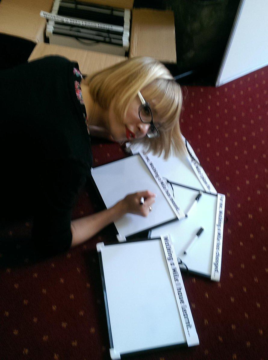 @MHF_tweets team preparing the selfie stations for #letswalkamile tonight in Edinburgh, 6.30 http://t.co/Gr79UjW2bR http://t.co/Bk52rqN2Wd