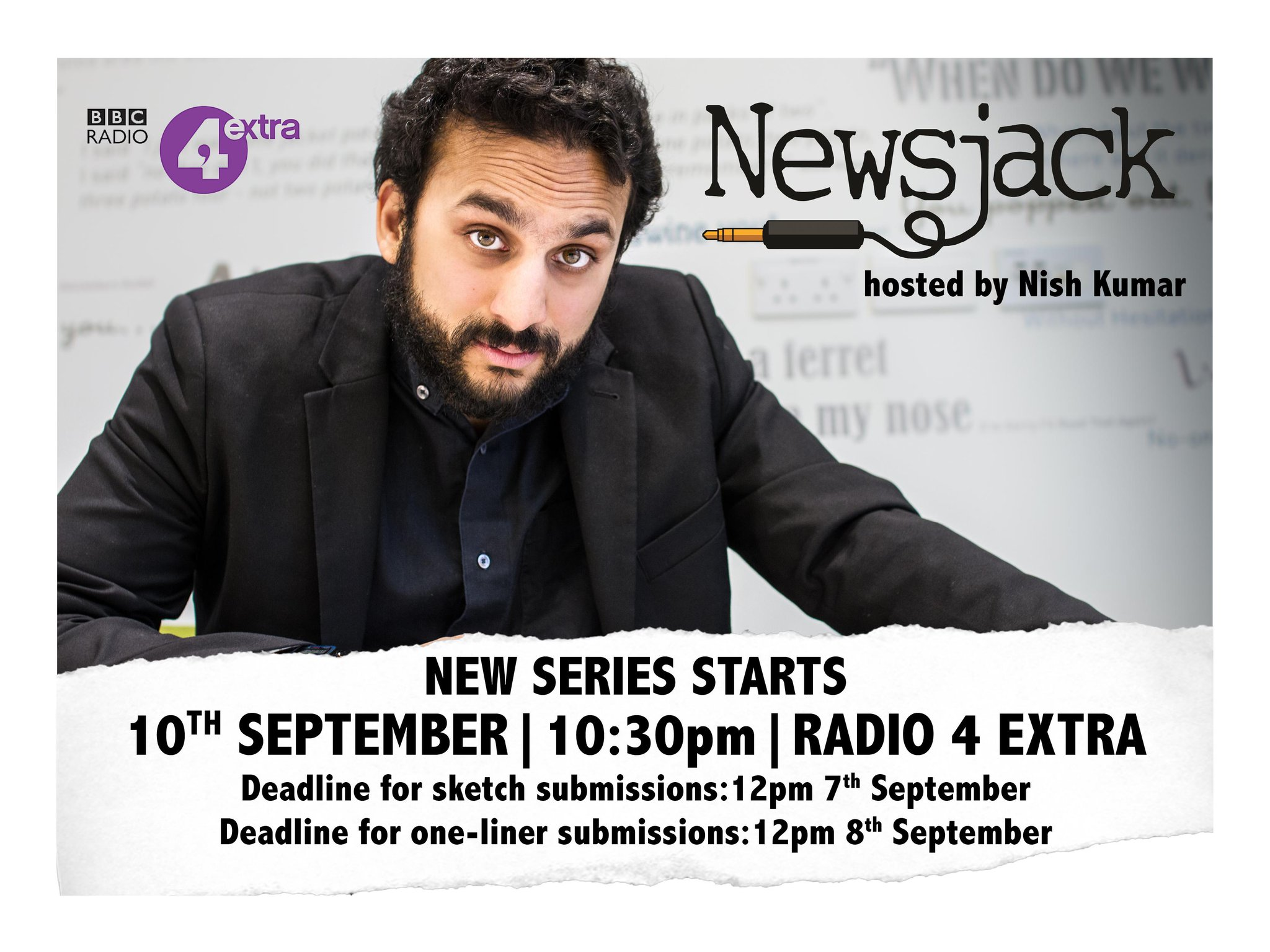 RT @NewsjackBBC: It's nearly Newsjack time! The first sketch submission deadline is noon on Monday 7th September. http://t.co/aYWsvDmcHv