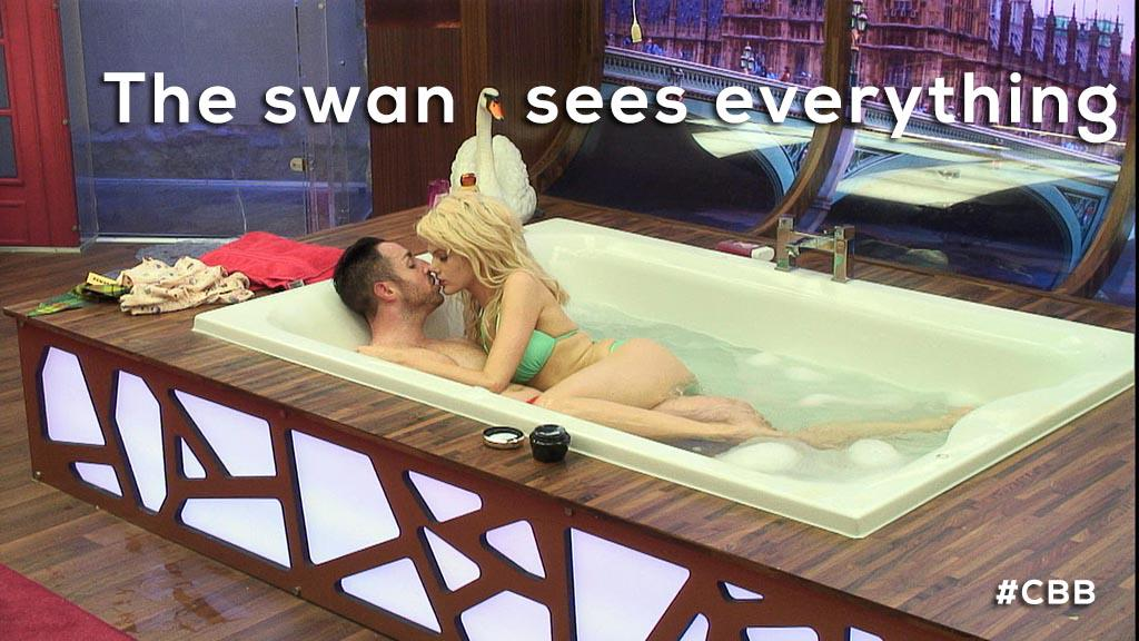 Stevi's in the dog house (And here was the offending bath: http://t.co/0hfJillT8Z) #CBB http://t.co/iYA7IGQAJz