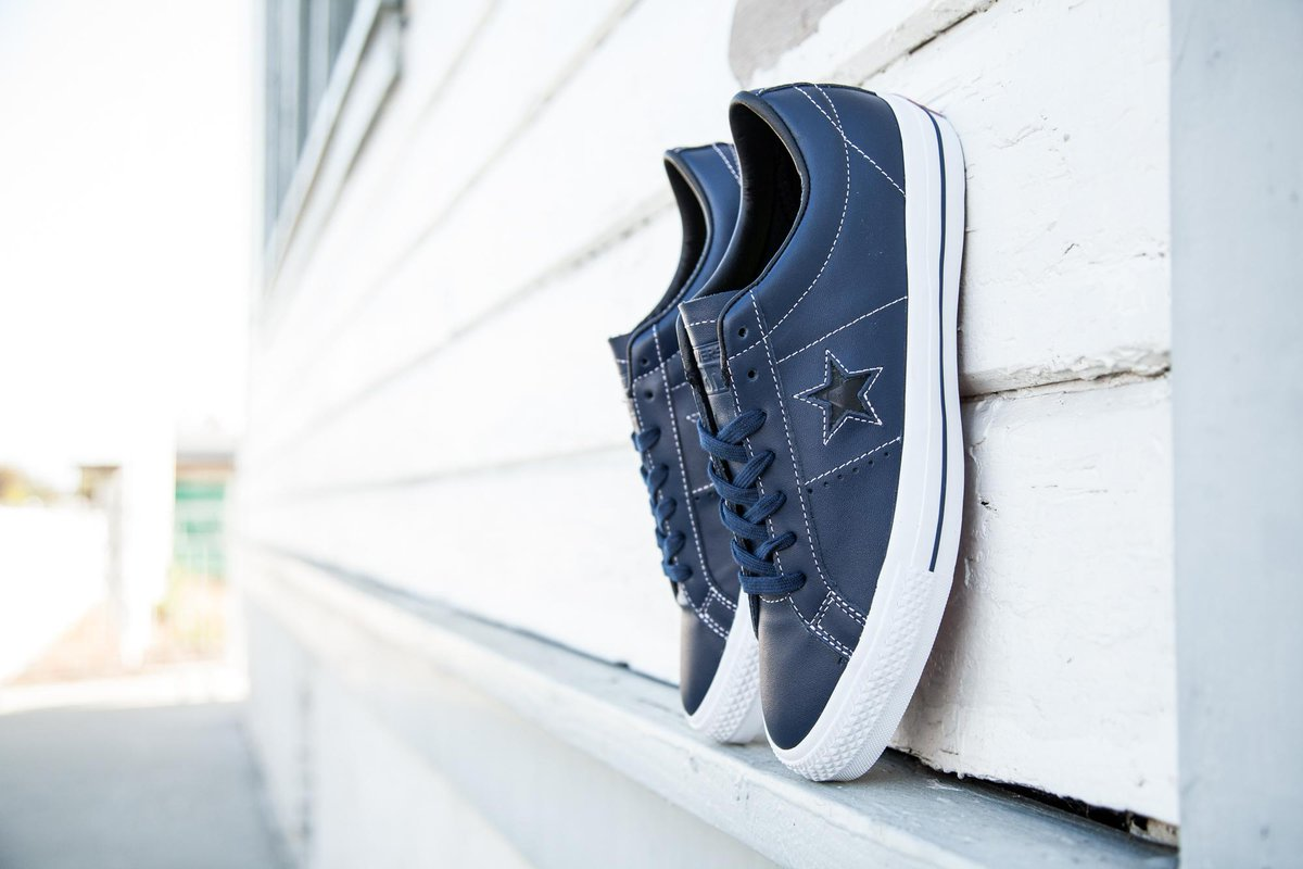 bf985061baf5 Converse Skate Men s One Star Skate OX Sean Pablo in navy is available in  sz 8-13 for  88 at http   baitme.com footwear .pic.twitter.com Lx4lQc5VvI