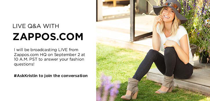 Tweet me your questions for my live Q&A with @zappos tomorrow! Talking all about fall fashion 👠 http://t.co/L6R8zIlfKL