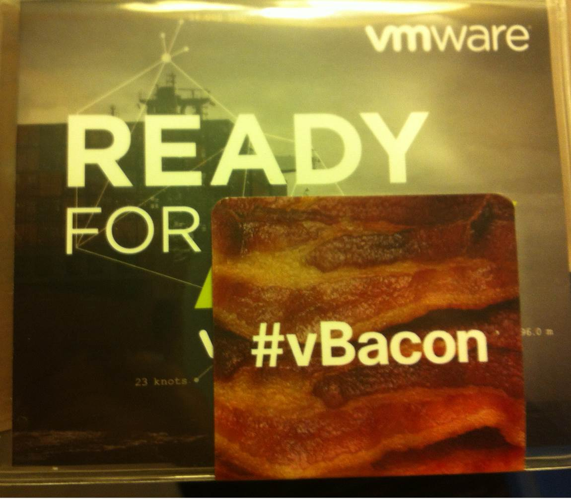 #vBacon is tonight! Stop by the Cisco booth to get you fast-access sticker.  Also: Scotch Tasting sponsored by Intel! http://t.co/B520M95J8C
