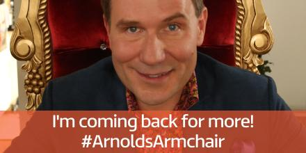 RT @GMB: #ArnoldsArmchair is back by popular demand! Fancy @RichardAArnold live from your front room? > http://t.co/dMbgvNQJO9 http://t.co/…