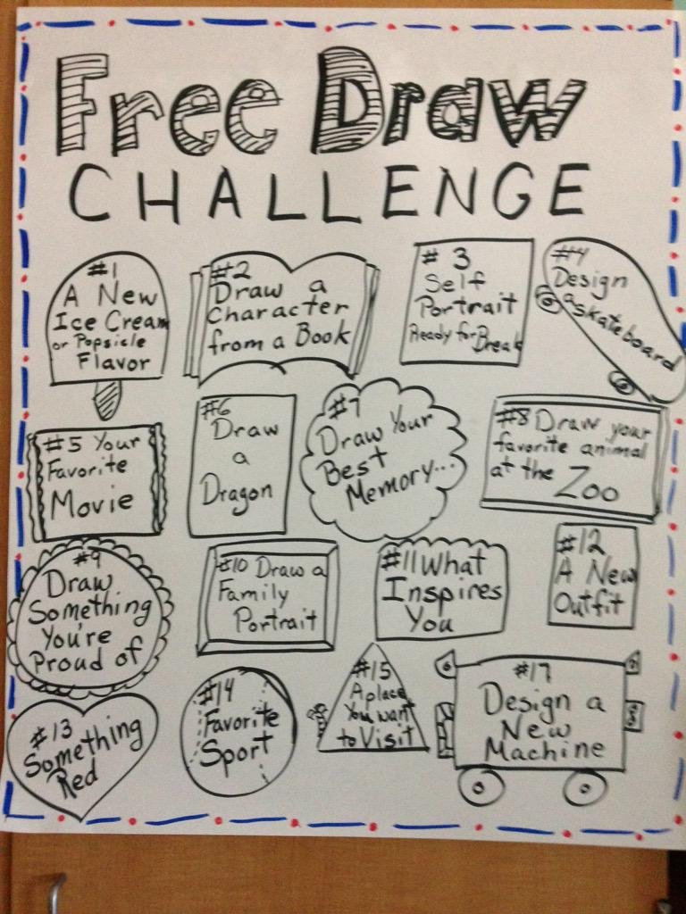 Denise Huddle On Twitter Take The Free Draw Challenge Http T