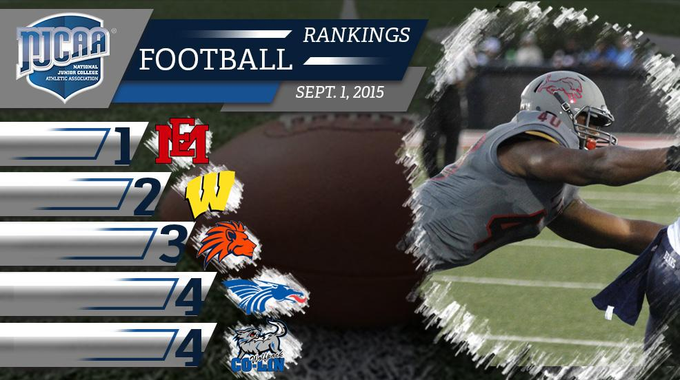 """NJCAA on Twitter: """"#NJCAA Football Rankings - #1 ..."""