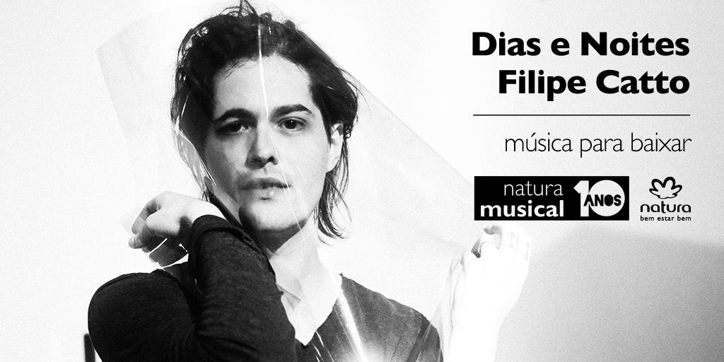 """Faça baixe, ouça e cante """"Dias e Noites"""", single do novo álbum """"Tomada"""", do @filipecatto. http://t.co/9fIhEAjYya http://t.co/8Sqm1qWHZC"""