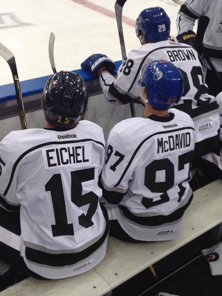 Well, here's something special. @cmcdavid97 @Jack_Eichel11 #NHLPARookieShowcase http://t.co/942ZU7t2zw