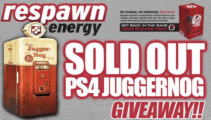 Giving away a SOLD OUT #BO3 Juggernog Edition for PS4. Follow @DrinkRespawn to enter. Winner picked Sept 15th. RT http://t.co/OfwPj4j2sU
