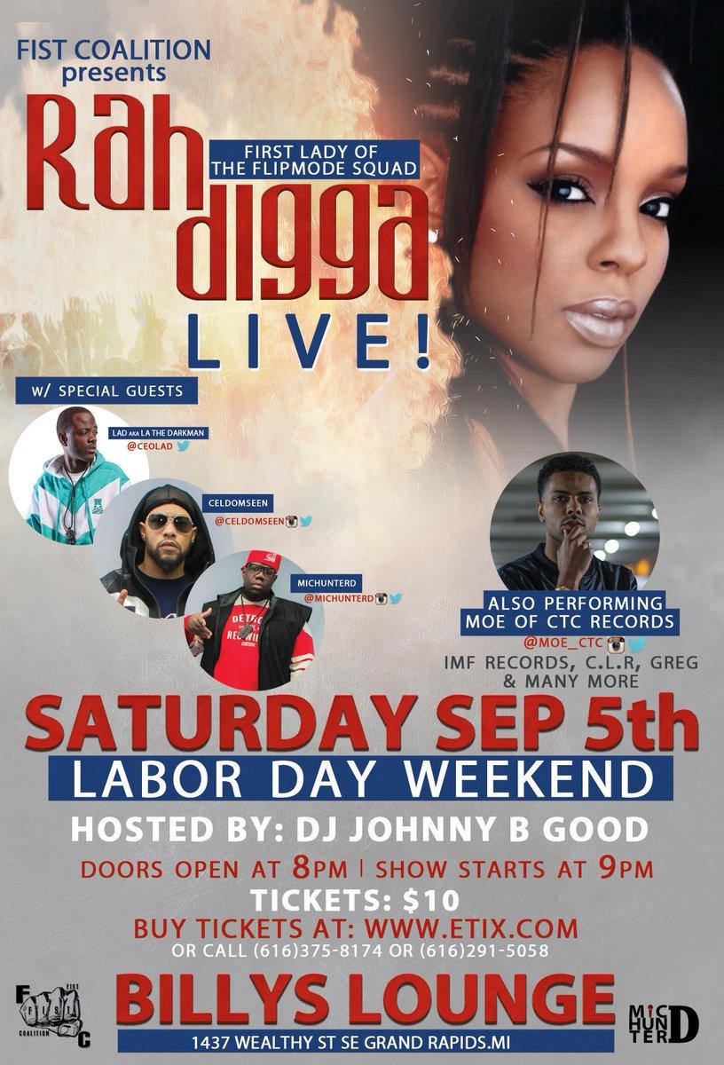 L.A.D aka La the Darkman & Rah Digga live Sept 5th!!!!!!! Oooooooooow!!!!!! http://t.co/NGj7YU8ylg