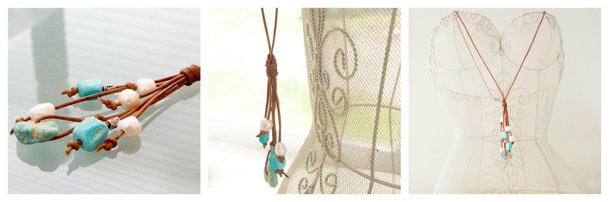 Turquoise tassel necklace by @JudysDesigns http://t.co/2bUXCTIK3f #handmade #tenxteam #epiconetsy http://t.co/h6qUfZuJRU