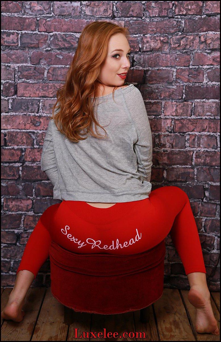 Redhead In Yoga Pants