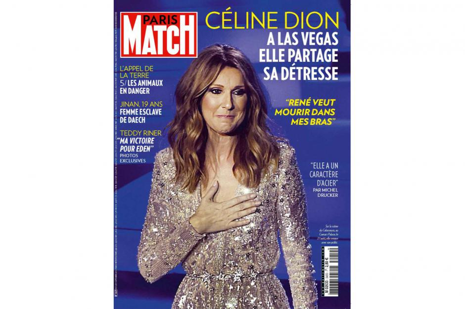 celine dion news on twitter celine dion is on the cover of the french magazine 39 paris match. Black Bedroom Furniture Sets. Home Design Ideas