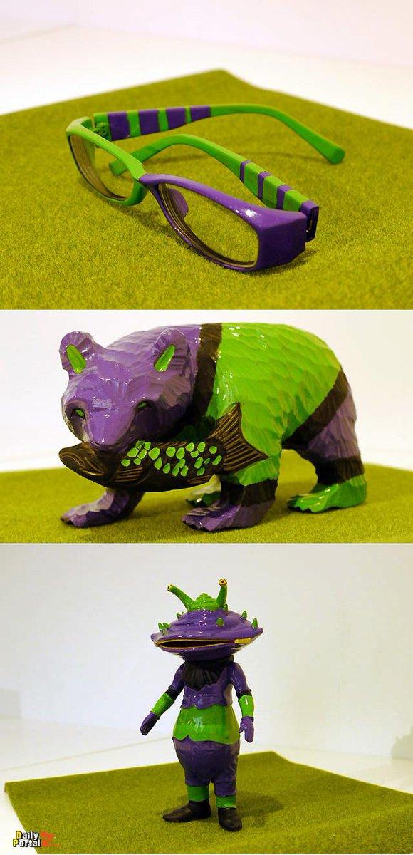 傑作選)身の回りのものをエヴァンゲリヲンにしてみよう。緑と紫でそれっぽく塗るだけで、なんでもエヴァになるぞ。 #dpz buff.ly/1LHP9ly pic.twitter.com/3sT2UGlUB7