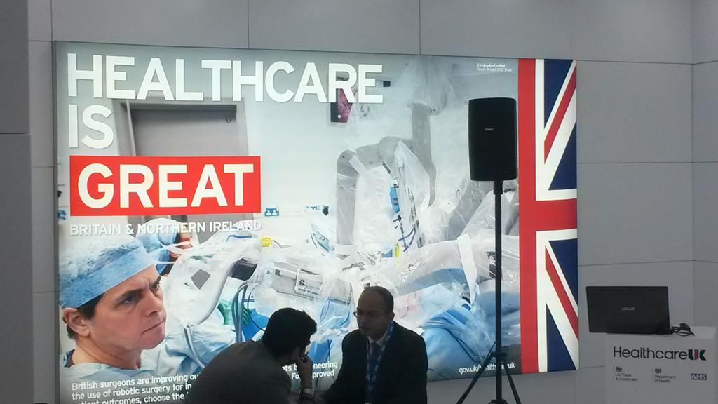 Promoting UK's world-leading health tech at #Expo15NHS with @GREATBritain campaign #HealthcareUK @dhgovuk @UKTI http://t.co/sZ4hea5eWi