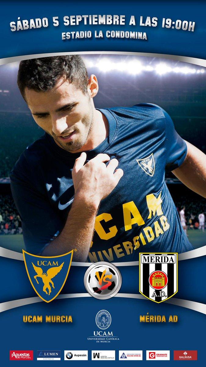 Sábado 5 de septiembre - 19:00 horas - La Condomina @UCAMMurciaCF vs Mérida AD http://t.co/NEcTgtJWRd