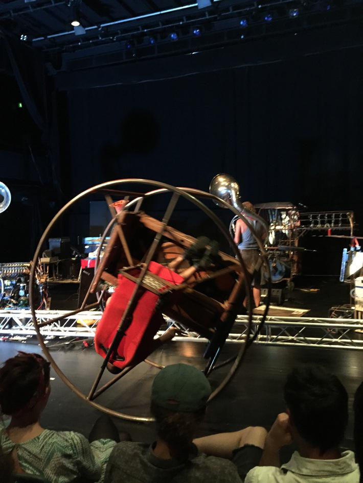 Yes, a revolving piano (and pianist), a crawling accordion, smoke rings, salad-spinner-assisted singing @wijzijnbot http://t.co/LXvbxhR4ag