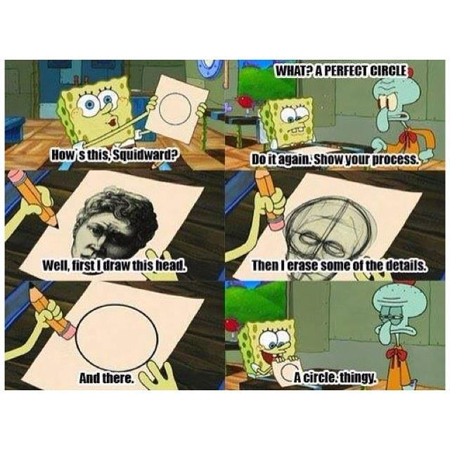 circle Spongebob perfect