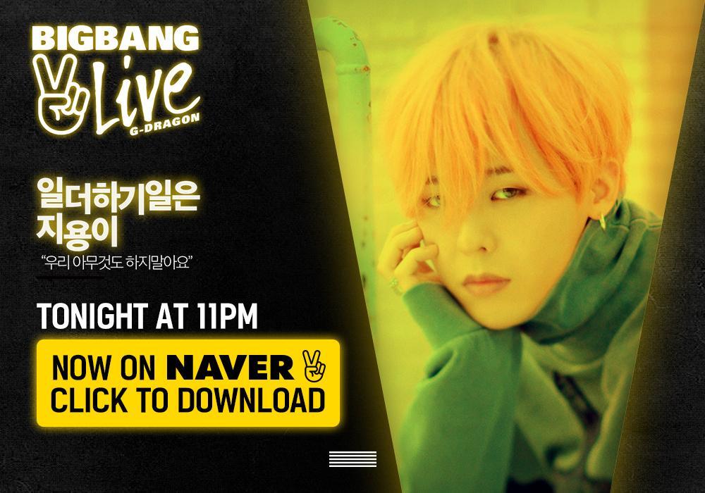 [BIGBANG - V LIVE 'G-DRAGON'] Watch @ http://t.co/HZzwRipl5O #BIGBANG #빅뱅 @IBGDRGN #GDRAGON #GD #VLIVE #Vapp