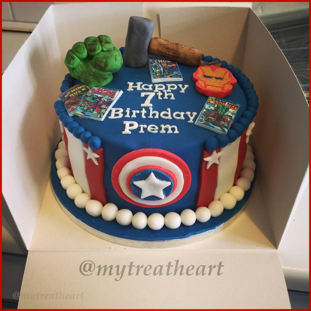 My Treatheart On Twitter Avengers Birthday Cake Avengerscake