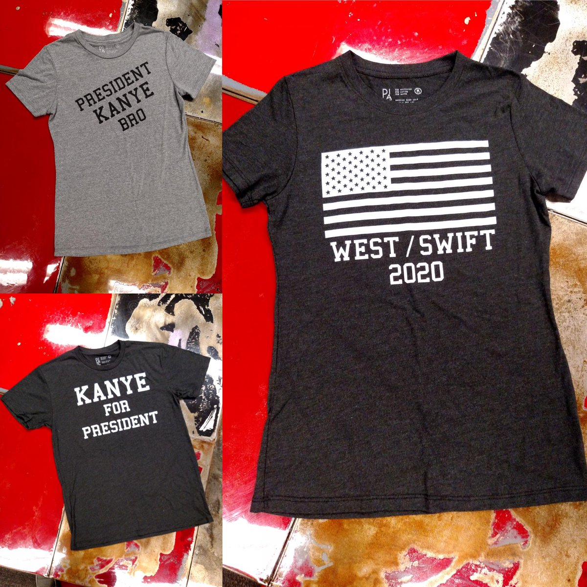 Start campaigning early for the #Kanye #Swift 2020 ticket. Get your gear at the all new http://t.co/oEkcPBXFQ9 http://t.co/RfWYGgWJDL