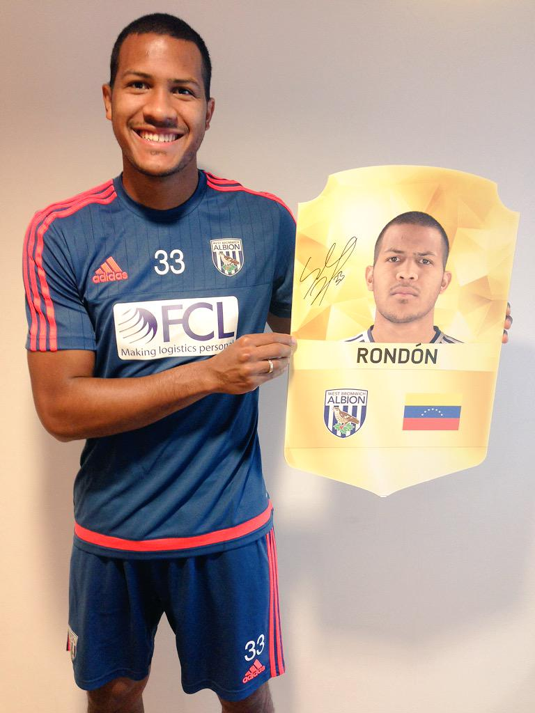 RT for the chance to win a signed @salorondon23 shield! Deadline is 3pm on Friday! @EASPORTSFIFA #FIFA16 #FUT16 #WBA