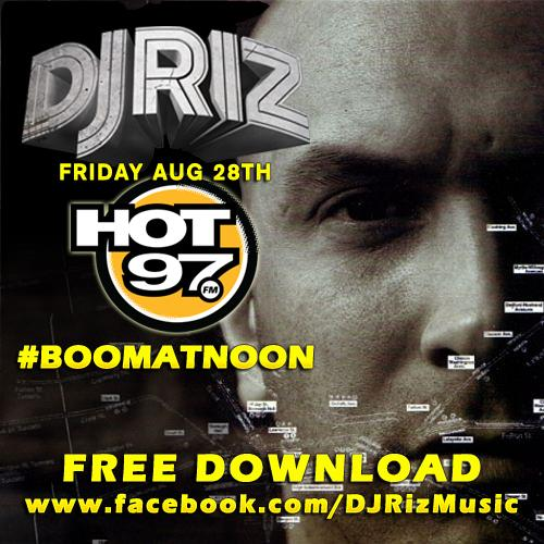 The wait is over! My live #BoomAtNoon mix that aired last week on @HOT97 is now available on https://t.co/rkxQse7bWt http://t.co/nOWVm4OpVS