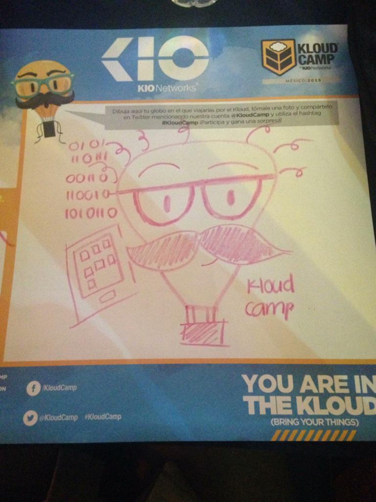 Mi dibujo para #KloudCamp #KloudCamp2015 estamos en break