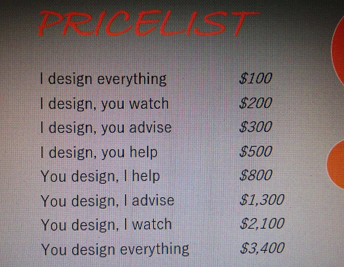 This designer has his pricing model all figured out. http://t.co/6D4Fhw77NK
