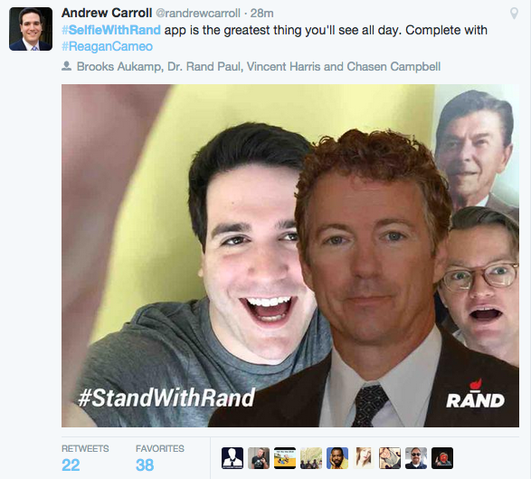 aj on twitter rand paul s new standwithrand app lets everyone