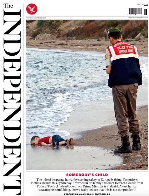 Terrible une de 'The Independent', ce jeudi.