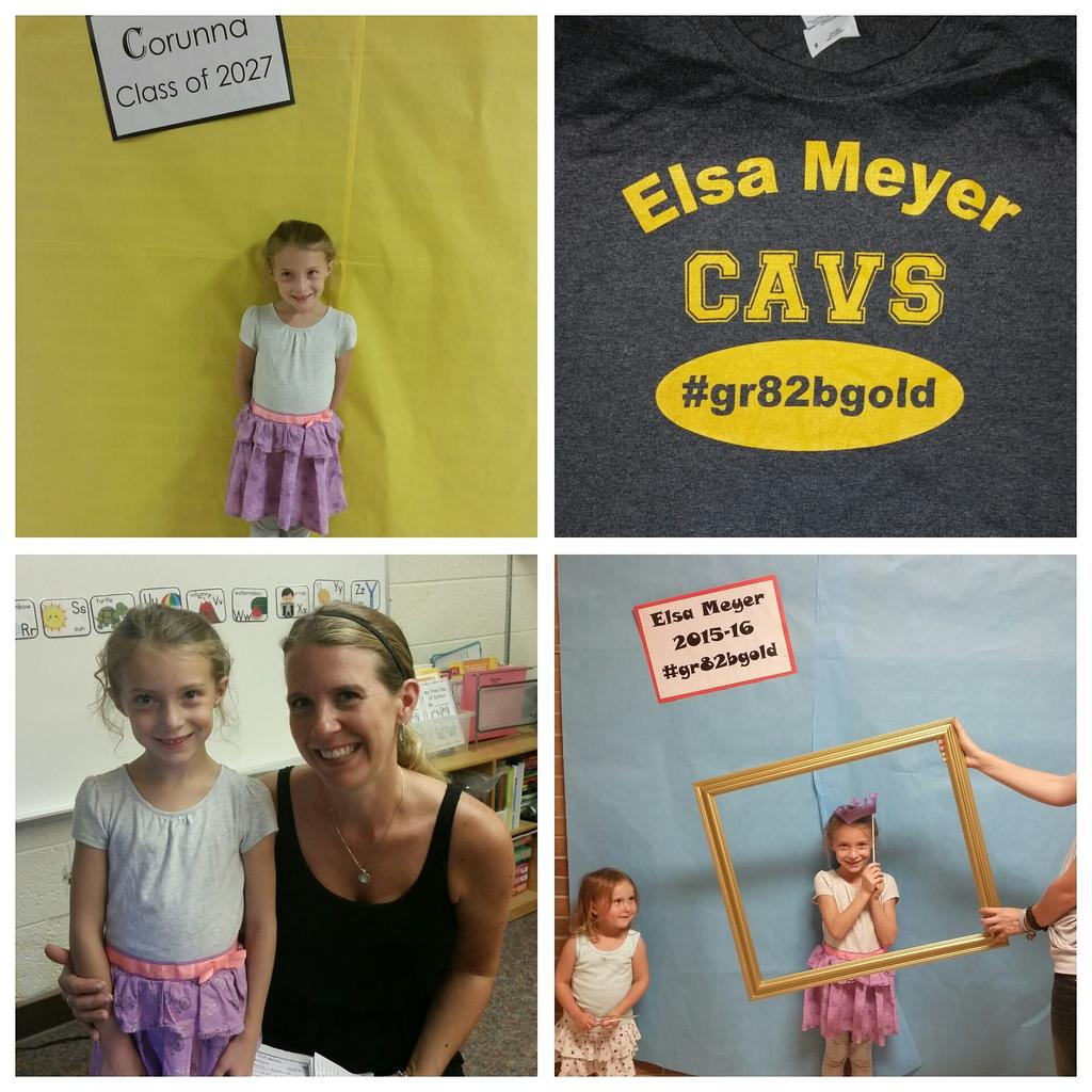 check out this 1st grader! she's got a new Tshirt by our favorite printer ;) #GrampaRodgisthebest and it's #gr82bgold http://t.co/kPsYazYdFT