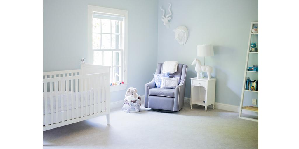 Fashionablehost S Beautiful Nursery Features Our Blue Lace 1625 Http Bit Ly 1xb2arb Via Wellroundednypic Twitter Md85hxbvzh