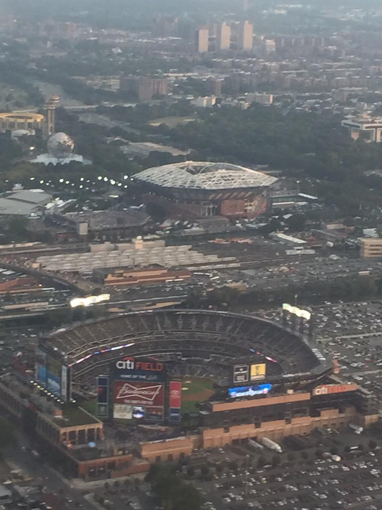 Great night for @mets #baseball or @usopen #tennis! Wish I could stay for either. #USOpen2015
