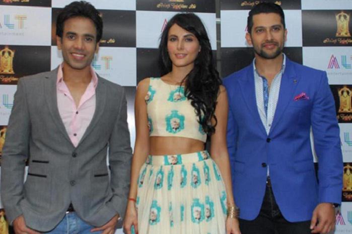 Mandana Karimi with Tushar Kapoor and Aftab Shivdasani in Kya Kool Hai Hum 3
