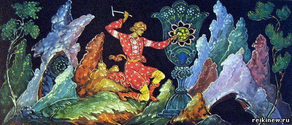 печатной продукции палехская иллюстрация медной горы хозяйка