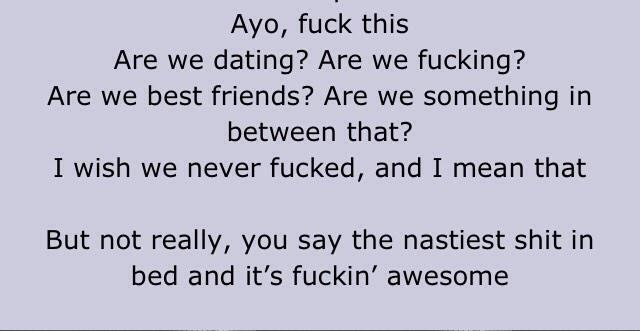 Dating we dating are we bestfriends are we something between that lyrics