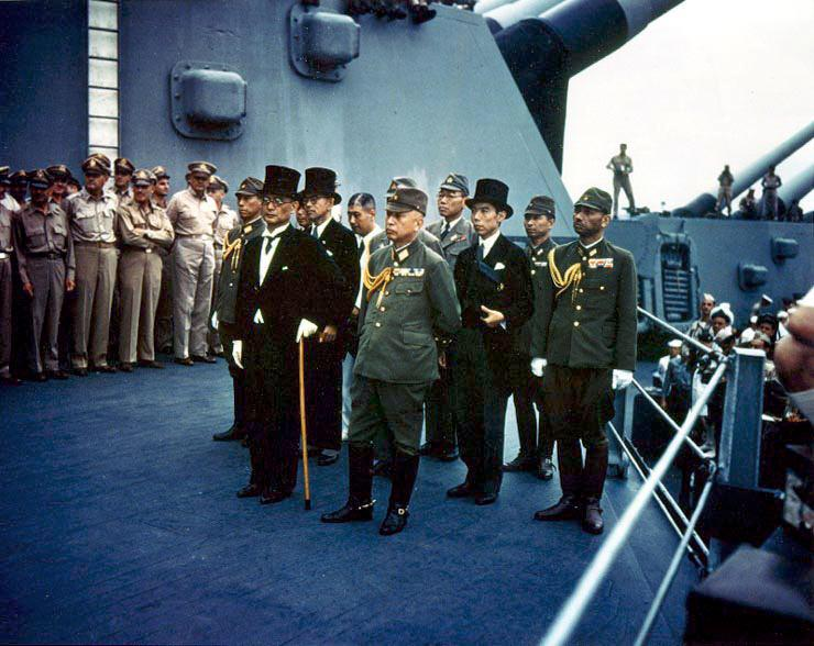 On this day in 1945 Japan formally surrendered aboard the USS Missouri in Tokyo Bay, bringing an end to #WWII. http://t.co/EcQ6oQsSQG
