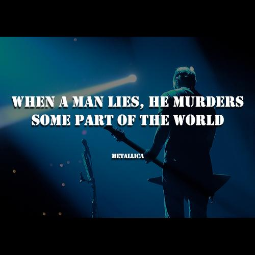 when a man lies